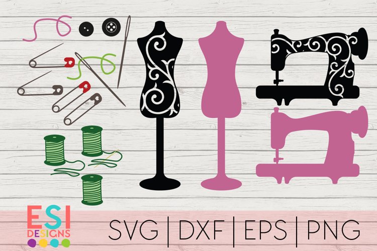 Sewing Designs Set | Hobby SVG | SVG, DXF, EPS, PNG