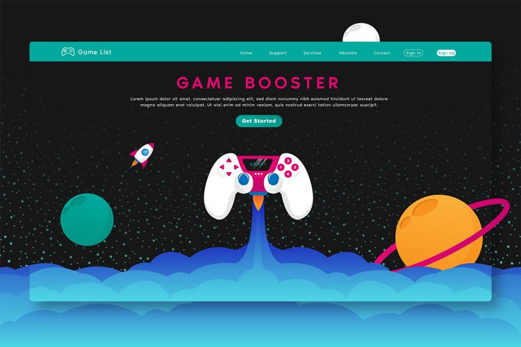 Game Booster - Landing Page example image 1