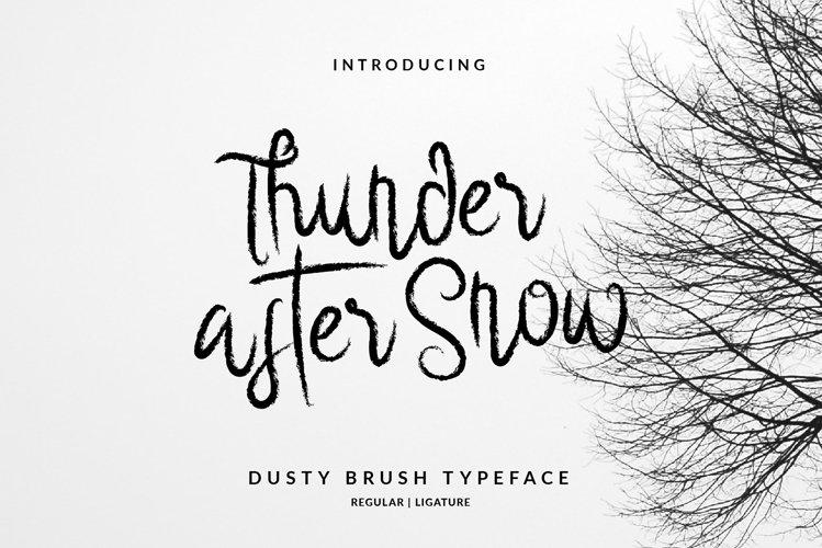 Thunder After Snow Brush Script