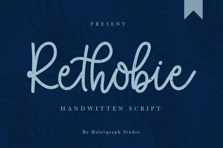 Rethobie Handwritten Script Font example image 1