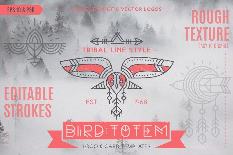 Bird Totem: Tribal Logo Design example image 1