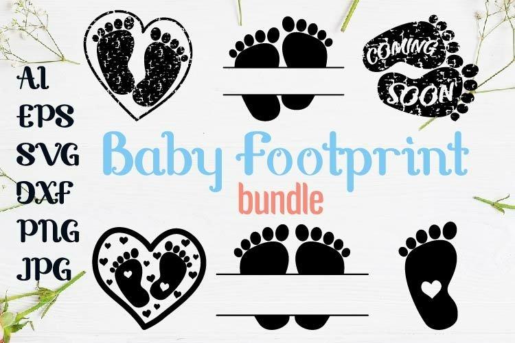 Baby Footprint bundle svg kit design