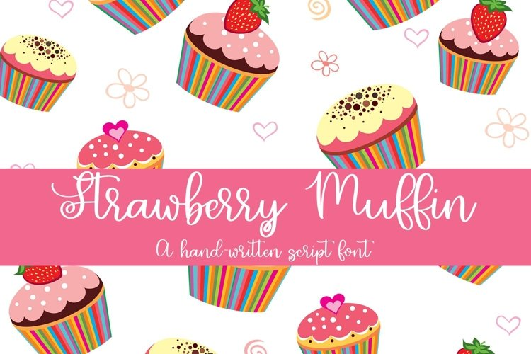 Web Font Strawberry Muffin - A Hand-Written Script Font example image 1