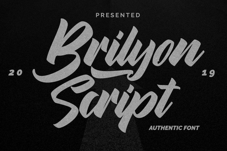 Brylion Script | Unique Authentic Font example image 1