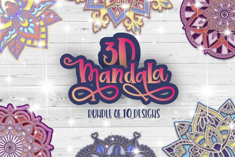 3D Mandala svg bundle Papercut SVG Zentangle