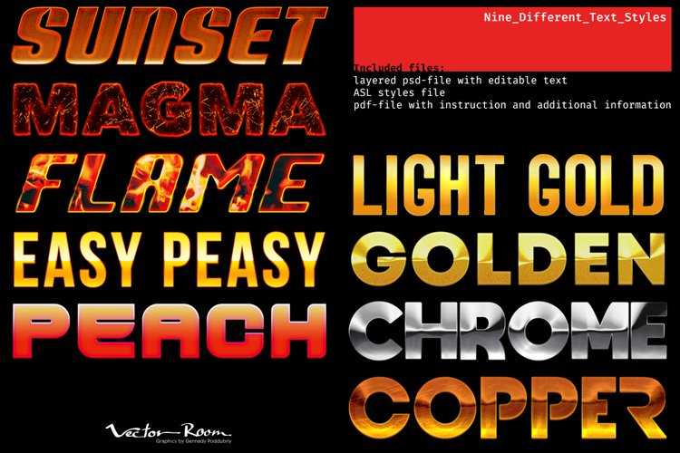 Nine Different Text Styles example image 1