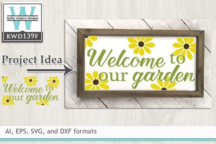 Gardening SVG - Welcome To Our Garden