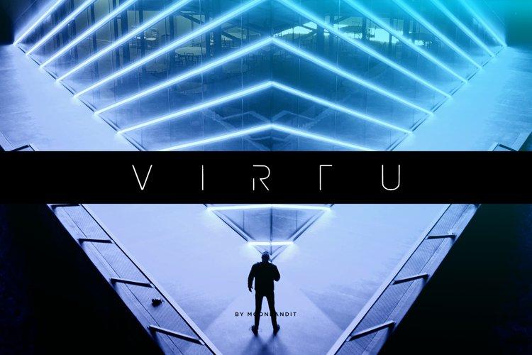 VIRTU - modern minimalist font example image 1