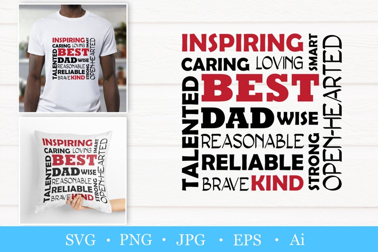 Best dad svg. Fathers day svg. Word art
