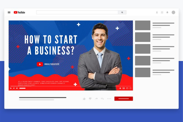 5 Grow Your Business YouTube Thumbnail Canva Templates example 5