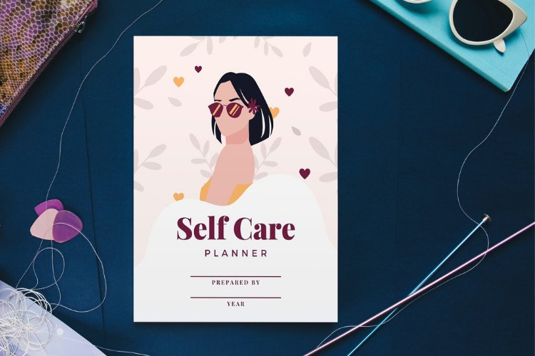 Self Care Planner Canva Templates example 3