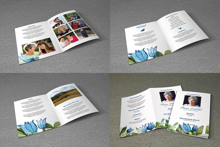 8 Page Funeral Booklet