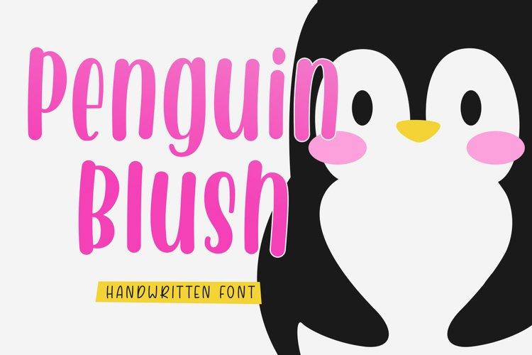 Penguin Blush - Handwritten Font example image 1