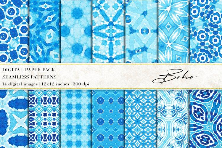 Boho Digital Papers, Boho Seamless Patterns