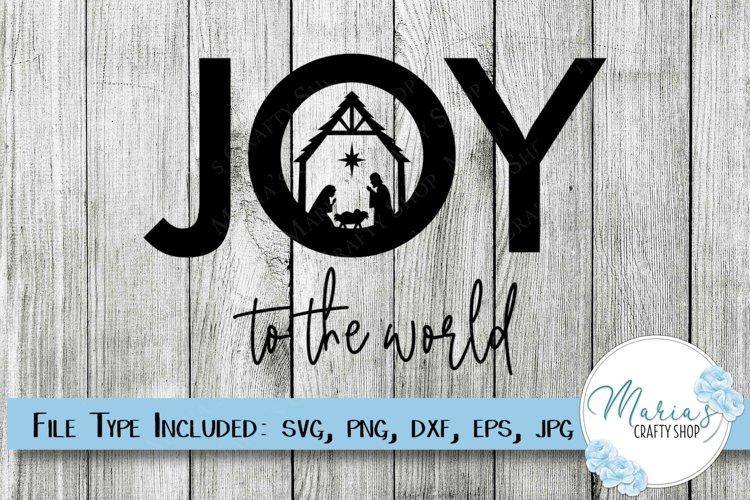 Joy SVG, Joy to the World SVG, Nativity SVG, Manger SVG example image 1
