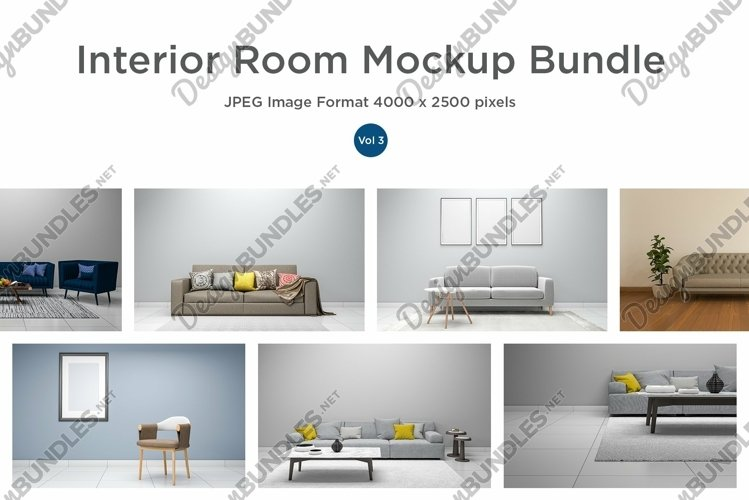 10 Images 3D Interior Room Mockup Bundle Vol 3