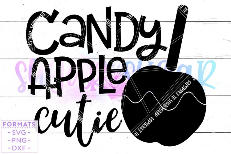 Candy Apple Cutie Fall SVG example image 1