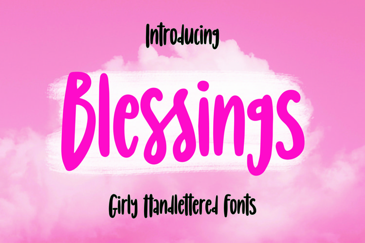 Web Font Blessings - Girly Handlettered Font example image 1