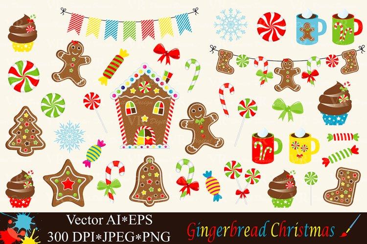 Christmas Gingerbread Clipart - Vector