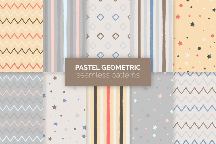 Pastel Geometric Seamless Patterns example image 1