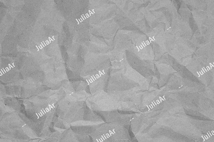 Crumpled recycled paper. Black and white background example image 1