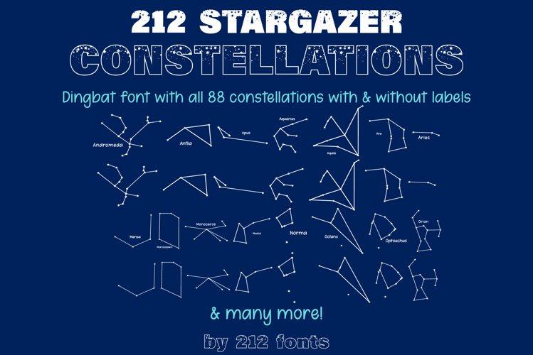 212 Stargazer Constellations Zodiac Dingbat OTF