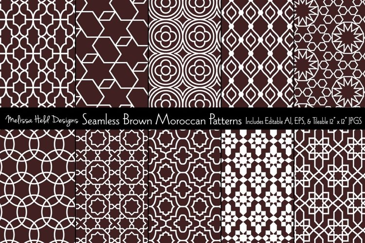 Seamless Brown Moroccan Patterns