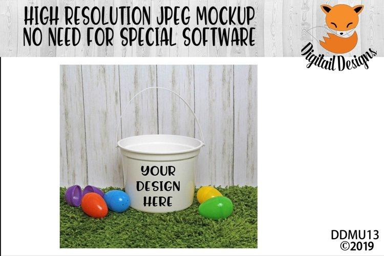White Easter Bucket Mock Up Mockup