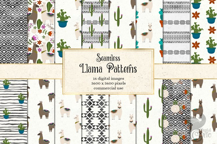 Llama Digital Paper example image 1