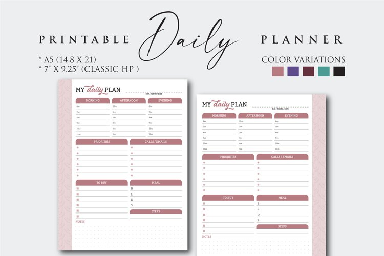 Printable Daily Work Planner example image 1