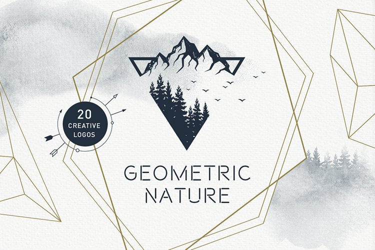20 Greative Logos in AI, EPS, PNG and SVG. Geometric Nature