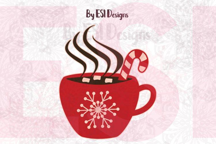 Christmas Hot Chocolate Mug| SVG DXF EPS PNG example image 1