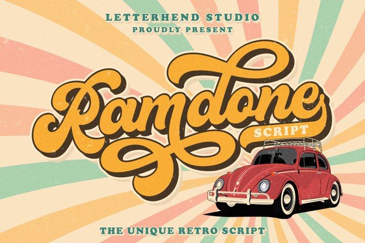 Ramdone - Retro Script example image 1