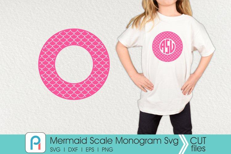 Mermaid Monogram Svg, Mermaid Scales Svg, Mermaid Svg