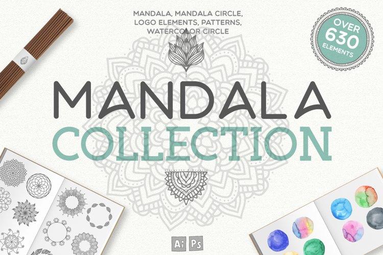 Mandala Collection [630 Elements] example image 1