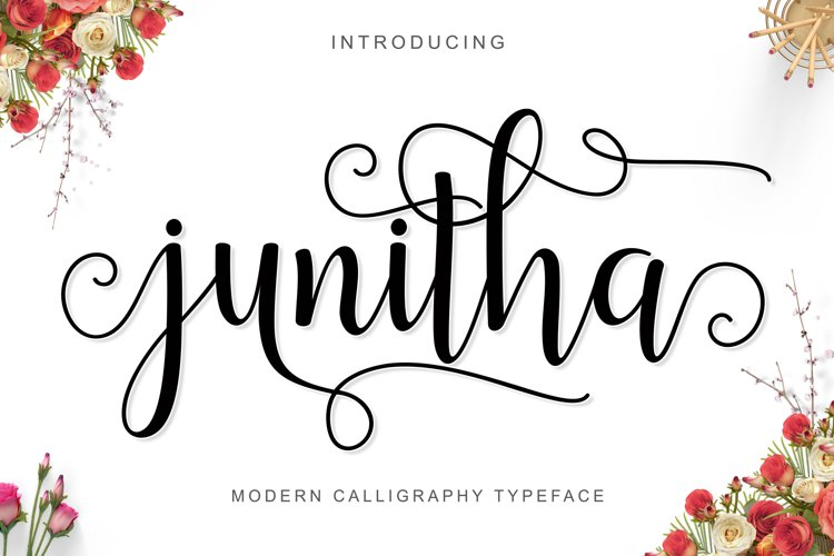 Web Font Junitha Script example image 1