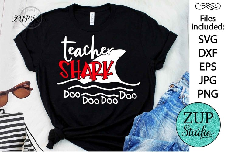 Teacher Shark SVG Digital Design Cutting files 454