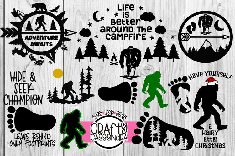Sasquatch svg Bundle - Cryptid silhouette for cricut - Sci-f example image 1