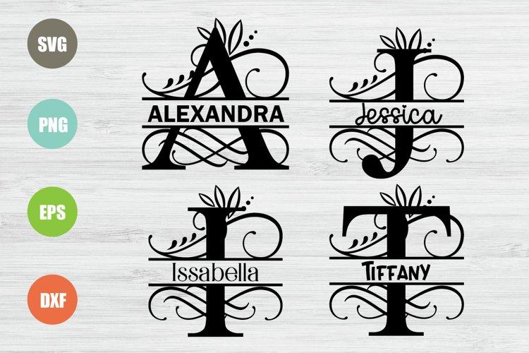 Split Letters A-Z Svg, Split Alphabet Svg Monogram Svg