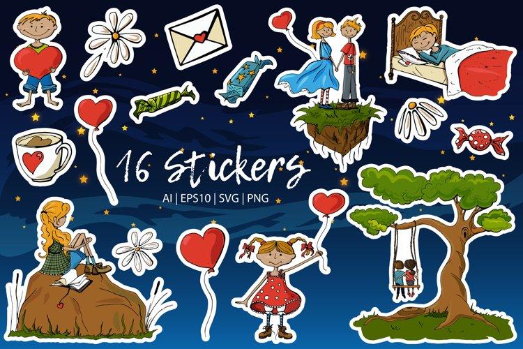 St. Valentines Stickers