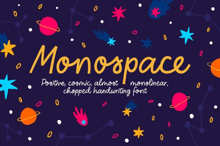 Monospace Handwritten Font example image 1