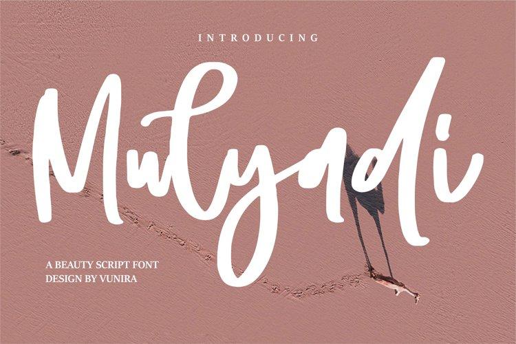 Mulyadi | A Beauty Script Font