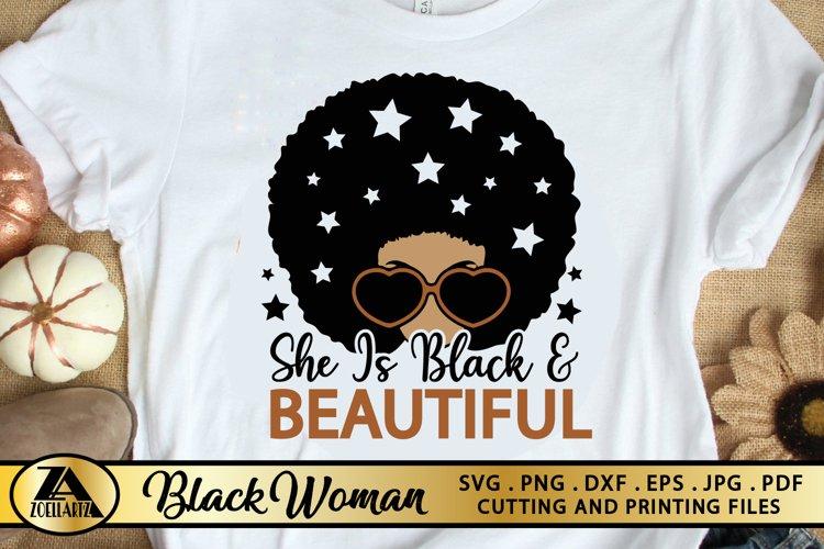 Black Woman SVG PNG EPS DXF Black Girl Magic SVG AFRO SVG example image 1
