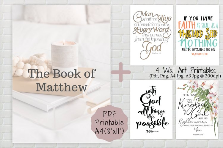 Book of Matthew Printable, Wall art, PDF Printables example image 1