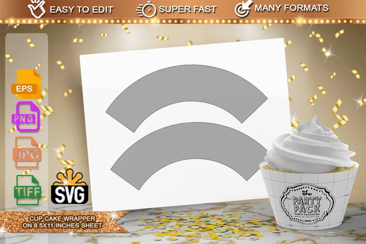 Cup Cake Wrapper Template example image 1