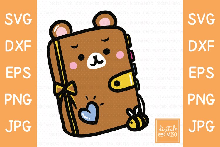 Planner Bear SVG - Animal Vector example image 1