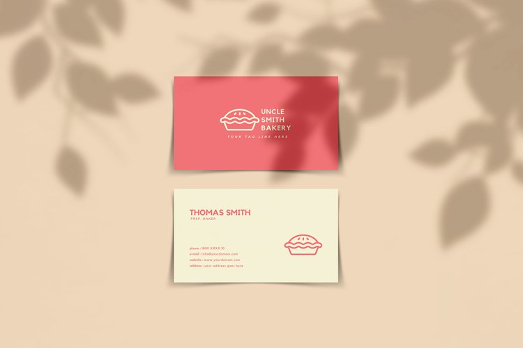 Minimal Bakery Business Card Template example image 1