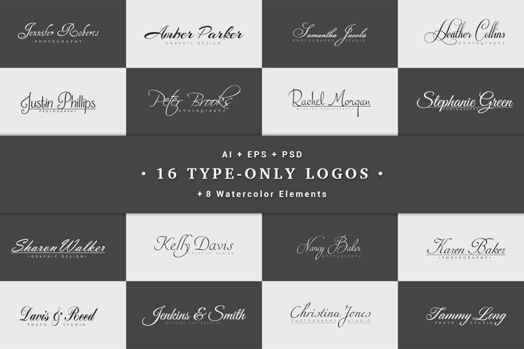 16 Type-Only Logos example image 1