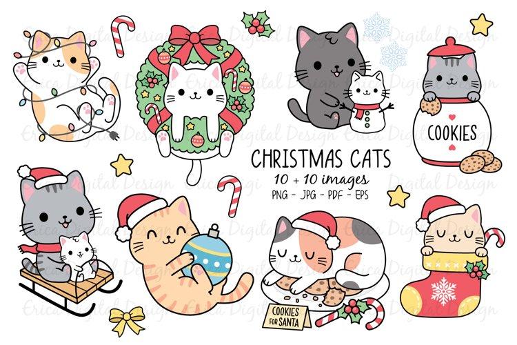 Christmas Cats Clipart Set 10 Cats 10 Objects Bundle 520548 Illustrations Design Bundles