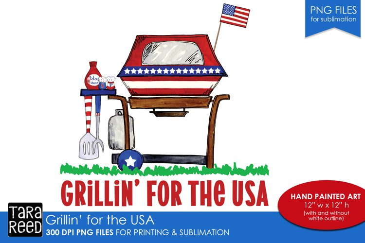 Grilling for the USA - US Patriotic Sublimation files